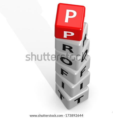 Red profit - stock photo