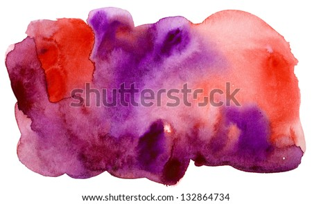 red purple watercolor - stock photo