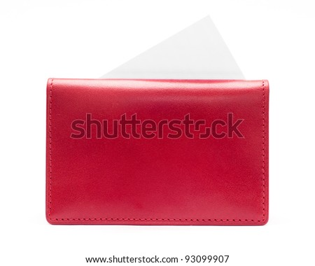 Red purse - stock photo