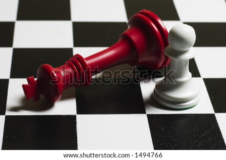 Red Queen Chess - stock photo