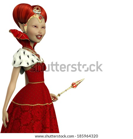 red queen elf close up - stock photo