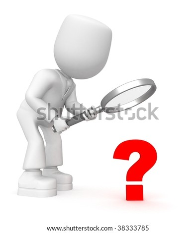 red questions - stock photo