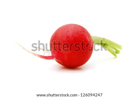 Red radish. Isolated over white background