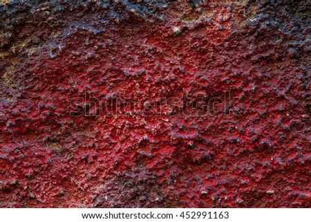 Red Ragged Surface Of The Wall, Texture Background