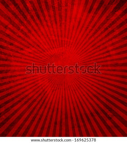 red rays - stock photo