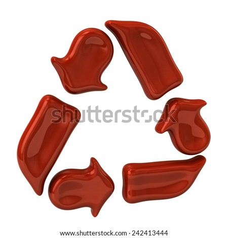 Red recycle icon