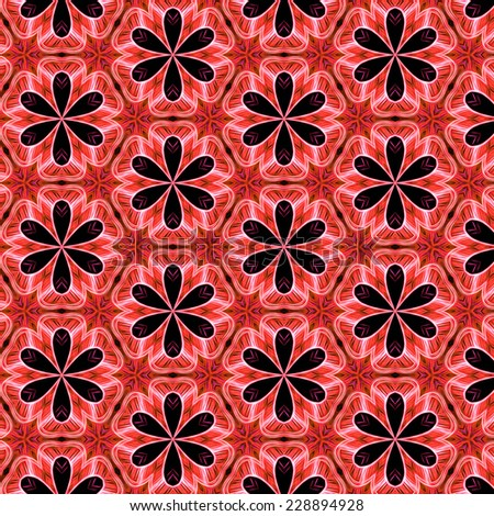 red retro abstract pattern