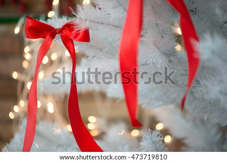 Red ribbon Christmas decoration