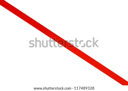 red ribbon isolated on white - stock photo