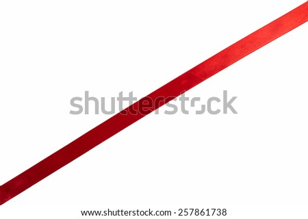 red ribbon on white background