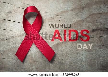 Red Ribbon World Aids Day Symbol Stock Photo 523998268 Shutterstock