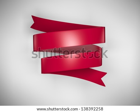 Red ribbon wrapped around. - stock photo