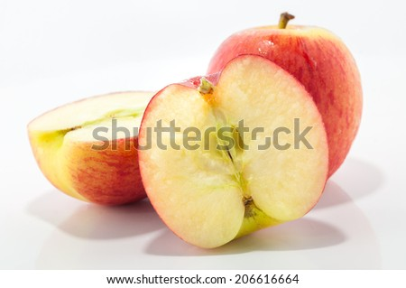 Red ripe apple. Isolated on white background