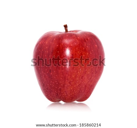 Red ripe apple on white