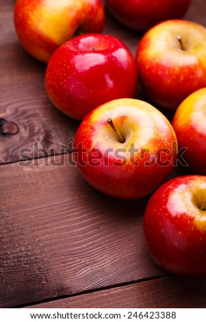 red ripe apples - stock photo