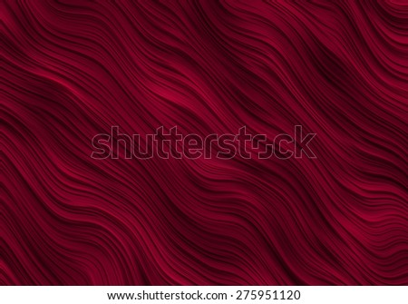 Red Ripples Abstract Background Bitmap Illustration - stock photo