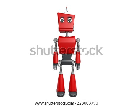 red robot - stock photo