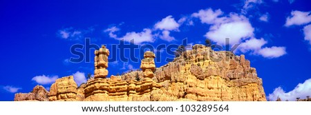 Red Rock Area, Bryce Canyon National Park, Utah - stock photo