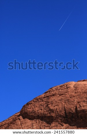 Red Rock Canyon and blue sky near Las Vegas. - stock photo
