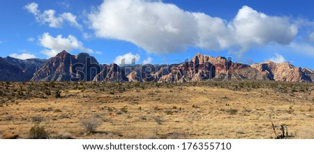 Red rock canyon landscape - stock photo