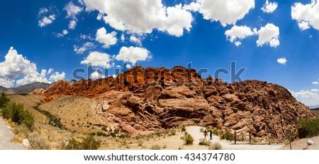 Red Rock Canyon Las Vegas Nevada   -  Panorama - stock photo