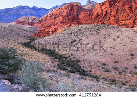 Red Rock Canyon National Conservation Area, Nevada - stock photo