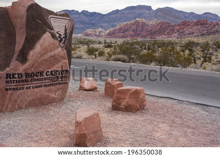 Red Rock Canyon near Las Vegas, Nevada. - stock photo