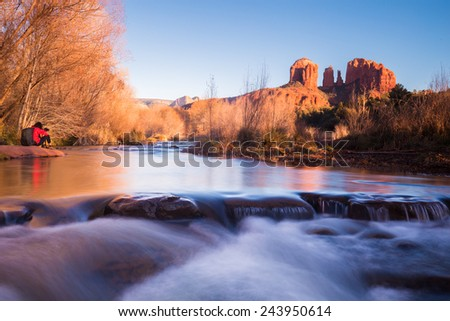 Red Rock Crossing, Page, Arizona - stock photo