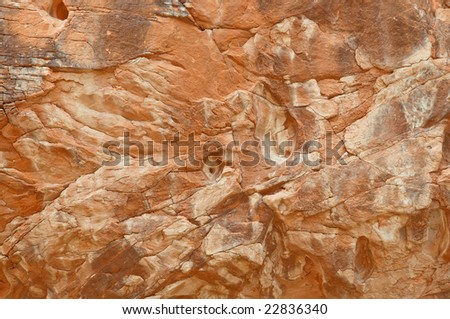 Red rock formation on canyon wall  - Valley of fire SP