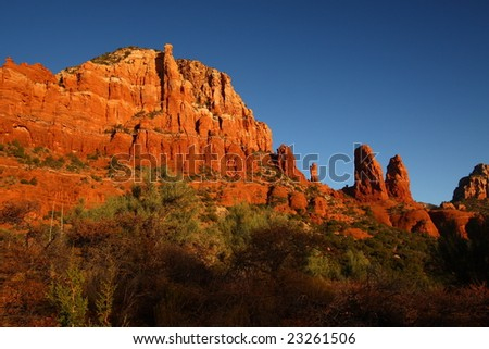 Red rock formations in Sedona Arizona