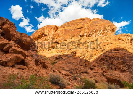 Red Rock Landscape, Valley of Fire State Park, Nevada, USA - stock photo