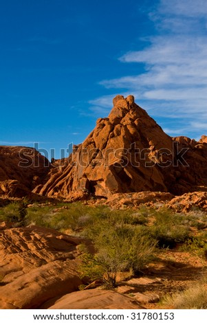 Red rock mountain in Valley Of Fire State Park