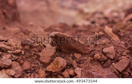 red rock surface background closeup