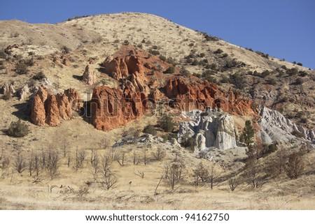 red rocks in nevada. - stock photo