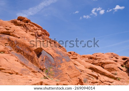 Red rocks in Valley of fire State park in Nevada - stock photo