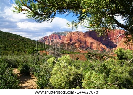 Red Rocks of Kolob Canyon - stock photo
