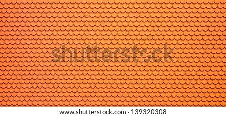 Red roof tiles, architecture background - stock photo