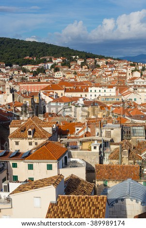 Red roofs of old town of Split, Croatia