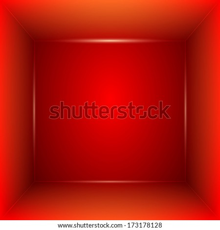 Red Room for presentations  - stock photo