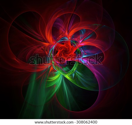 Red Rose abstract illustration - stock photo