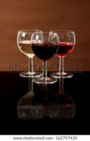 Red, rose and white wine, drink photo - stock photo