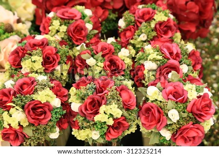 Red rose bouquets