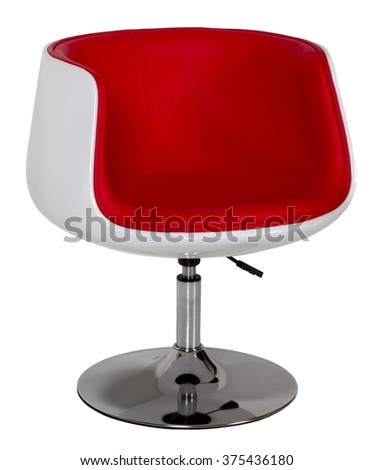 red rotating chair bar stool