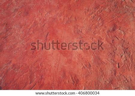 red rough concrete floor texture background - stock photo