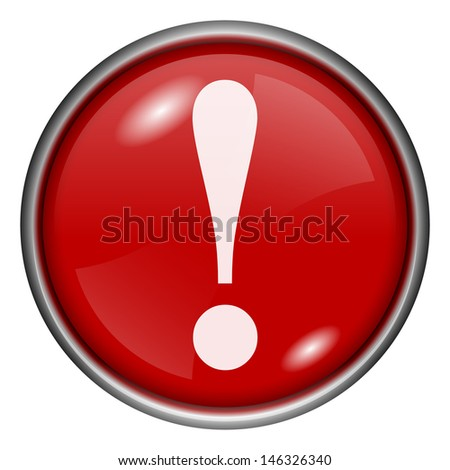 Red round glossy icon with white design on red background - stock photo