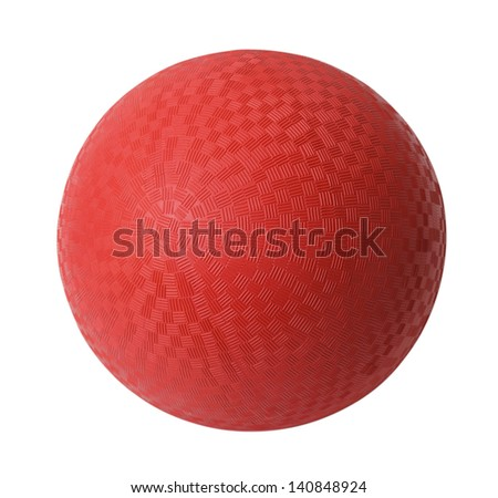 Red Rubber Ball Isolated on White Background. - stock photo