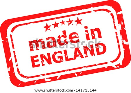 Red rubber stamp of made in england, raster - stock photo