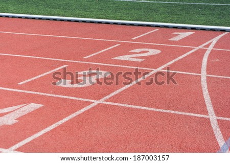 Red Running track background