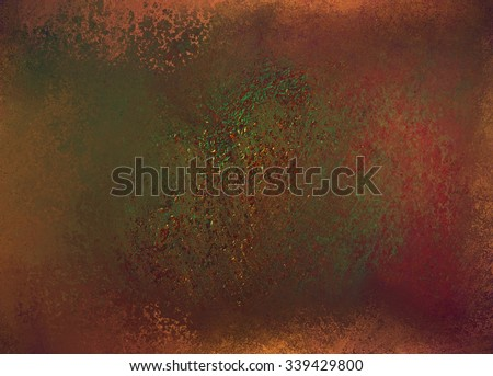 red rust and burnt orange background with green and brown grunge texture, vintage background wall with peeling cracked and rusted paint, cool textured backdrop for graphic art designs - stock photo