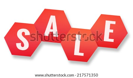 red sale icon - stock photo